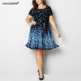 4625a17d358 6xl 2018 Платье женщин Polka больших размеров O-образным вырезом плюс размер  платья повелительницы вскользь лета vestidos способа большой размер одежды  ...