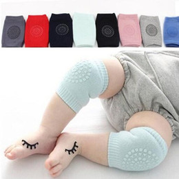 Wholesale Teenage Catsuit - INS Baby Safety Crawling Knee Pads Cotton 9*12cm Infants Anti-slip Knee Cushion Elbow Protectors Leg Warmers Stretch Kneecaps For Kids DHL