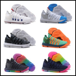 Wholesale Pearl Medium - Zoom KD 10 Basketball Shoes Men Men's Homme Blue Tennis BHM Kevin Durant 10 X 9 Elite Floral Aunt Pearls Easter Sport Shoes