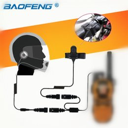 motorcycle helmets microphones Coupons - 2.5mm Full face Close Motorcycle Helmet Headset Microphone PTT for Motorola Portable Radio Walkie Talkie T5428 TLKR T80 T6 T60