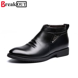 shoe broken toe Coupons - Break Out New men boots snow boots men leather for winter shoes warm Plush shoes