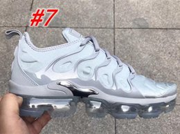 Wholesale Dark Pack - Vapormax TN Plus Olive Mens Sports Running Shoes Sneakers Men Run In Metallic White Silver Mens Comfort Casual Shoes Pack Triple Black