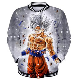 2019 bébés dragon BTS DRAGON BALL veste de baseball Anime 3D impression vestes femmes college veste Super Saiyan Fils Goku vêtements bébé fille 4XL vêtements promotion bébés dragon
