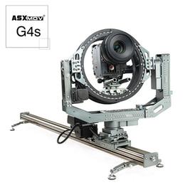 2019 kamera schieberegler großhandel Aluminiumlegierung Multifunktions-DSLR-Kamera-Track-Slider 3D-Kopf glatte motorisierte Kamera Dolly Slider für Filmausrüstung