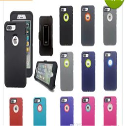 Wholesale galaxy note clip - For iPhone X 6 6s 8 7 plus Case Crash-proof Hybrid Waterproof Defender Case Samsung Galaxy Note 8 S8 & Clip Package Free Shpping