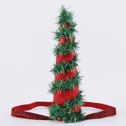 Sombrero de punto para niños online-Sombreros de la fiesta de cumpleaños de la venda de la Navidad del punto con la gorra de bola de pelo Fiesta de cumpleaños de la fiesta de cumpleaños apoyos de los niños Decoración de los niños