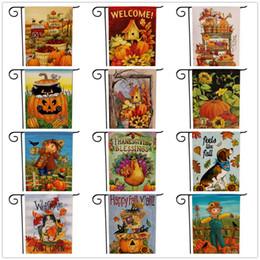halloween thanksgiving decorazioni giardino bandiera zucca bandiere appeso all'aperto giardino Banner casa decorazione festa benvenuto autunno bandiere autunno da