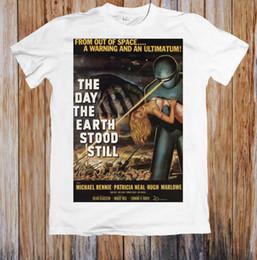 стенд для стенда Скидка День, когда Земля остановилась 50-х годов фильм плакат унисекс футболка