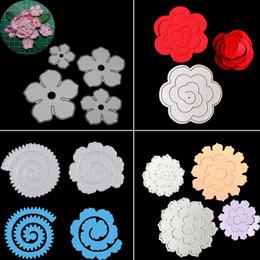 Wholesale rose paper cut - Rose Flower Dies Cuts Metal Cutting Dies DIY Scrapbooking Embossing Craft DIY Paper Cards snijmal Flower Roll