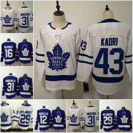 3ab12d0ac82 Men Toronto Maple Leafs Jersey 29 William Nylander 31 Frederik Andersen 43  Nazem Kadri 44 Morgan Rielly 91 JohnTavares Hockey Jerseys