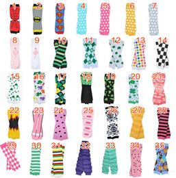 Wholesale Arm Warmers Cotton - Wholesale Baby Chevron Leg Warmer Arm warmers Children Boy Girl Infant Holloween Christmas Leggings Tights can choose color 24pairs lot