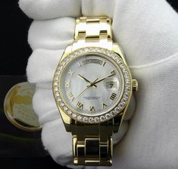 Wholesale Pearl Sapphire - Factory Supplier Luxury 18kt Gold Automatic Movement Watch 41mm MASTERPIECE Pearlmaster Mother Of Pearl Roman 18948 Mens Wrist Watch