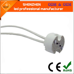 Canada GU5.3 Support de lampe en céramique MR16 Spot Prise de lampe G4 Base de lampe halogène Fil de silicone tissé Adaptateur de fil de silicone Offre