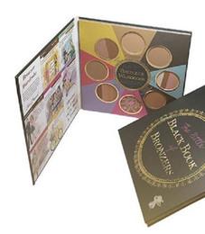 livros de maquiagem grátis Desconto O pequeno LIVRO PRETO de BRONZERS 8 Cores Paleta de Sombra de Olho Maquiagem Alta luz Frete Grátis