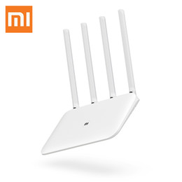 dual band wifi 5ghz Coupons - Original Xiaomi Mi Router 4 3g 3 Wireless Dual Band WiFi 1167Mbps 2.4   5GHz 4 Antennas 802.11ac Supports APP New Arrival 2018