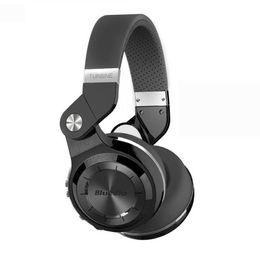 Auriculares de turbinas online-Hot Bluedio Headest T2 + Turbine 2 Plus Auriculares Bluetooth plegables Bluetooth 4.1 Auriculares Soporte Tarjeta SD y Radio FM para llamadas Música