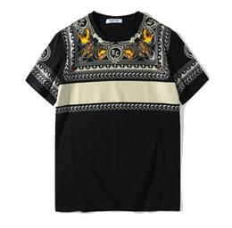 tigerdruckhemden Rabatt 2018 Sommer Männer Kurzarm Tiger Kopf Druck T-Shirt lässig Designer T-Shirt Mode RG T-Shirt Baumwolle Tops Mode T-Shirt