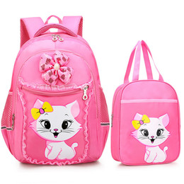 cute sweet cartoons Coupons - Cartoon Portfolio kids school bag For Girls Sweet Cute Princess Cat Children Backpack Kids Primary School Backpack Lac bag