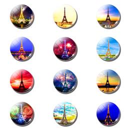 2019 liebesbrief 12 stücke Eiffelturm 25 MM Magnetische Kühlschrank Aufkleber Liebe In Paris Glaskuppel Hinweis Halter Kühlschrankmagnet Weihnachten Wohnkultur rabatt liebesbrief