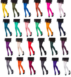 Wholesale Black Socks Wholesale - Womens Tights Choose From 25 Fashionable Colours 120 Denier New Warm Women Stockings Pantyhose Socks Tights Thick Opaque Solid Color