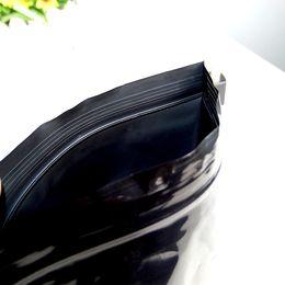 sacs en plastique d'emballage de détail noir Promotion DHL 200 Pcs / Lot 24 cm * 36 cm Black Valve Zipper Paquet Paquet Poche Zip Lock Reclosable Ziplock Grip Seal En Plastique De Stockage Sacs