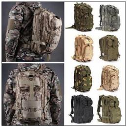 Wholesale Military Bag Hiking - 12 Colors 30L Hiking Camping Bag Military Tactical Trekking Rucksack Backpack Camouflage Molle Rucksacks Attack Backpacks CCA9054 30pcs
