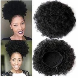 6 pollici Afro Kinky Elastic Net Chly Bun ricci femminili con due pettini di plastica Updo Cover Capelli sintetici cheap hair net bun covers da copriscarpe di capelli fornitori