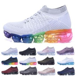 Wholesale Classic Walking Shoes - Vapormax Running Shoes Men Women Classic Outdoor Run Shoes Vapor Black White Sport Shock Jogging Walking Hiking Sports Athletic Sneakers