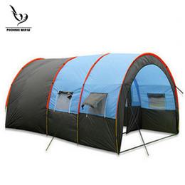 carpas de dos habitaciones Rebajas Ultraligero tienda de campaña al aire libre de doble capa de una habitación de dos salas de campaña 210T tafetán impermeable de camping gran tamaño Super