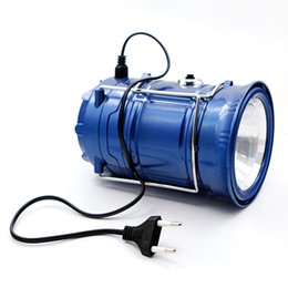 Wholesale blue cold hands - Outdoor Flashlights Luminaire LED 6LEDs Solar Power USB charging Lamp LED Rechargeable Hand Lamp Camping Lantern Light