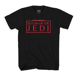 logotipos de filmes Desconto Episódio VI Retorno do Jedi Logo Movie Poster Mens T-Shirt 100% algodão casual manga curta homens top Quality Cotton