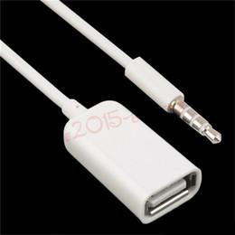 автомобильный аудиоадаптер usb Скидка 3.5 мм мужской AUX аудио разъем разъем для USB 2.0 женский кабель-адаптер шнур автомобиля MP3 аудио линия конвертер