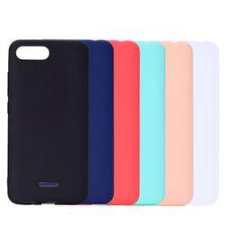 caso xiaomi tpu Rebajas Cubierta del color del caramelo para Xiaomi Redmi 6A caso suave TPU ultrafino diseñador Mobie cajas del teléfono Capinha