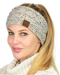 Wholesale Christmas Headband Cheap - Hot Cheap Fashion CC Knitted Headbands Women Winter Ears Headband Knitting Turban Headwrap Crochet Hair Accessories High Quality B100