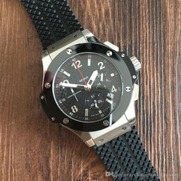 Wholesale red machinery - Hot seller Luxury AAA Famous Soft Rubber Strap Sport Men's Watches High Bezel &#72ublot Fashion Automatic machinery Wristwatches