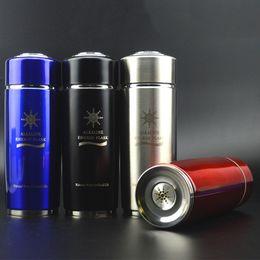 Wholesale aluminum grades - Quantum Weak Alkaline Water Cup Outdor Portable Double Deck Drinkware Electrolysis Hydrogen Rich Energy Bottles High Grade 42km Ww