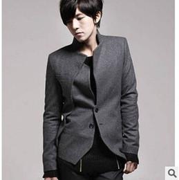 Wholesale Cheap Windbreaker - Free shipping 2017 spring new Korean Explosion models Slim Men stand collar single breasted windbreaker jacket cheap wholesale