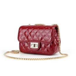 Famous Brand Female Messenger Bags Fashion Small Patent Leather Bag Ladies  Plaid Chain Shoulder Crossbody Bags For Women Handbag 906c7e52e16d9