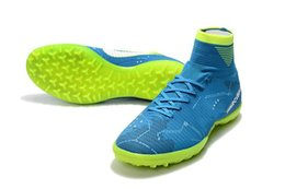 Wholesale Kids Green Boots - Soccer Shoes Kids Mercurial Superfly V SX Neymar TF Football Shoes,Cristiano Ronaldo CR7 Cleats Neymar Footbal Shoes Soccer Boots