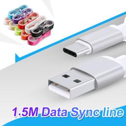 C plugs on-line-1.5 m tipo c longo forte trançado usb cabo do carregador cabo micro usb para samsung s8 além de cabo de dados de sincronização plugue de metal sem pacote