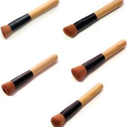 Wholesale Professional Blush Brush - Makeup Brushes Cosmetic Foundation Blush Angled Flat Professional Soft Fiber Angled Flat Top Foundation Powder Brush Cosmetic Tool BBA109