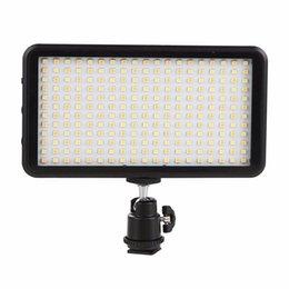 boîtier de caméscope Promotion SUPON LED Light 228 Panneau lumineux vidéo pour caméra DV Caméscope 3200-6000K noir Case Kit chaud maquiagem