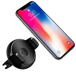 Wholesale Qi Wireless Charger Pad Black - QI Fast Wireless Car Charger Wireless Charging Pad for Samsung S8 S8 Plus Wireless air vent mount Charger for iPhone Stand