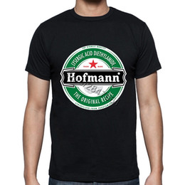 Wholesale Unique Shirts Men - Unique Adults Hofmann LSD Beer Label T Shirt Short Sleeve Stretchy Organic Cotton Print Mens Tee Summer Oversized Casual T-shirt