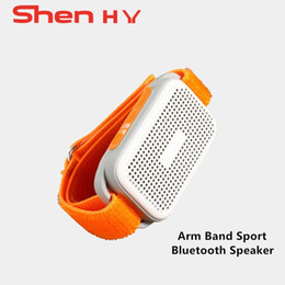 alto-falante de mão bluetooth Desconto Moda braçadeira sports watch bluetooth speaker falante sem fio portátil tf cartão com mic mãos livres para celulares chamando correndo falante