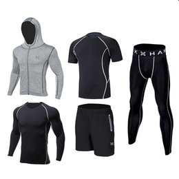white kids sports suit Coupons - Kids compression running sets suit outdoor sport kit gym basketball soccer football fitness shorts shirts leggings pants jackets