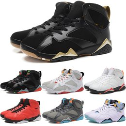 Wholesale Leather Men Sweaters Black - High Quality 7 7s Bordeaux Hare Olympic Tinker Alternate Men Basketball Shoes 7s Sweater UNC French Blue Raptor designer Sneakers trainers