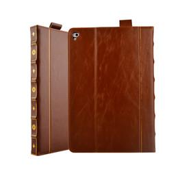 estilos del libro caso de ipad Rebajas Para Ipad Air 5 6 Air 2 Pro 9.7inch 2017 2018 12.7inch 2016 10.5inch Retro Book Style funda de cuero Vintage antiguo antiguo cubierta de la tarjeta del tirón