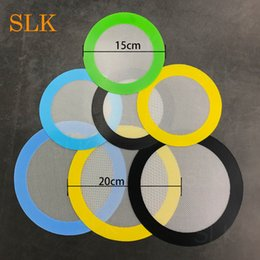 Wholesale baked goods - Good products round two sizes non stick silicone dab mat for rolling dry herb mini baking mat pastry pads cooking tools