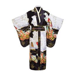 Kimono kenata femme noire dame japonaise tradition avec fleur obi robe de soirée vintage costume cosplay taille unique ? partir de fabricateur
